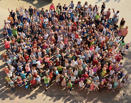 Schüler und Lehrer der Rolandschule 2016
